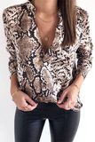 Born To Win Blouse - Brown - flyqueens