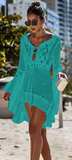 Catch Her Vibe Crochet Dress - Sage - flyqueens