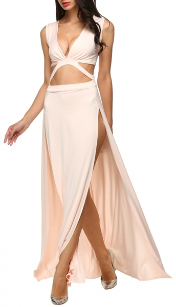 Test the Limit Maxi Dress - Tan