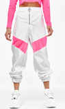 Got It Goin On Joggers - Pink & White - flyqueens