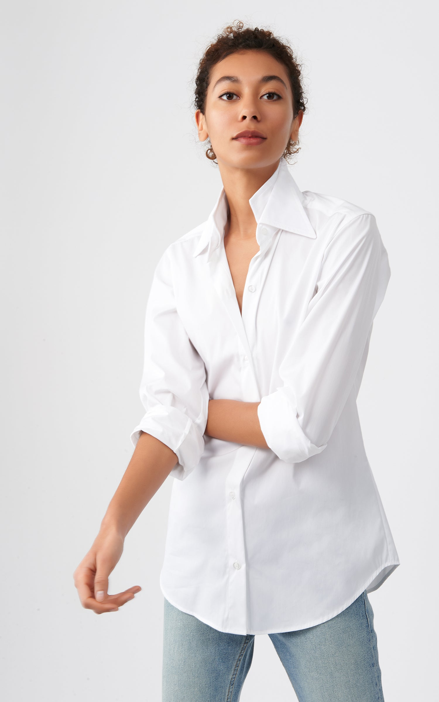DOUBLE COLLAR SHIRT - STRETCH COTTON
