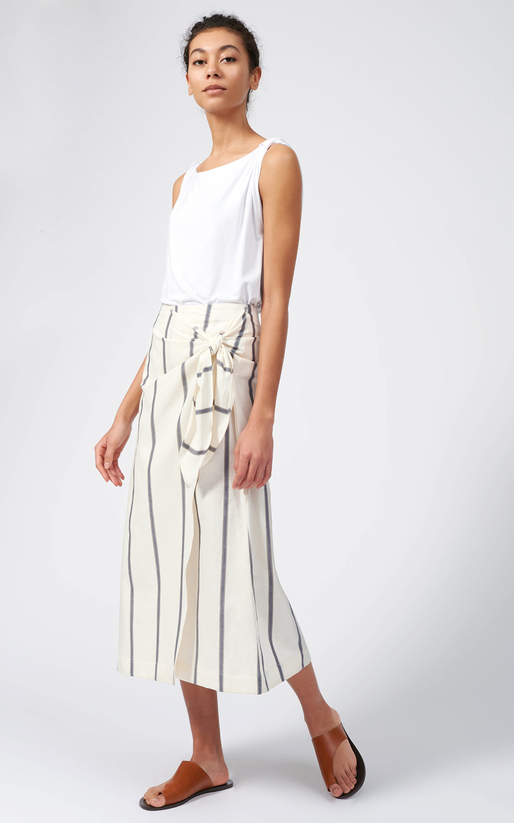 WRAP SKIRT - ORGANIC STRIPE