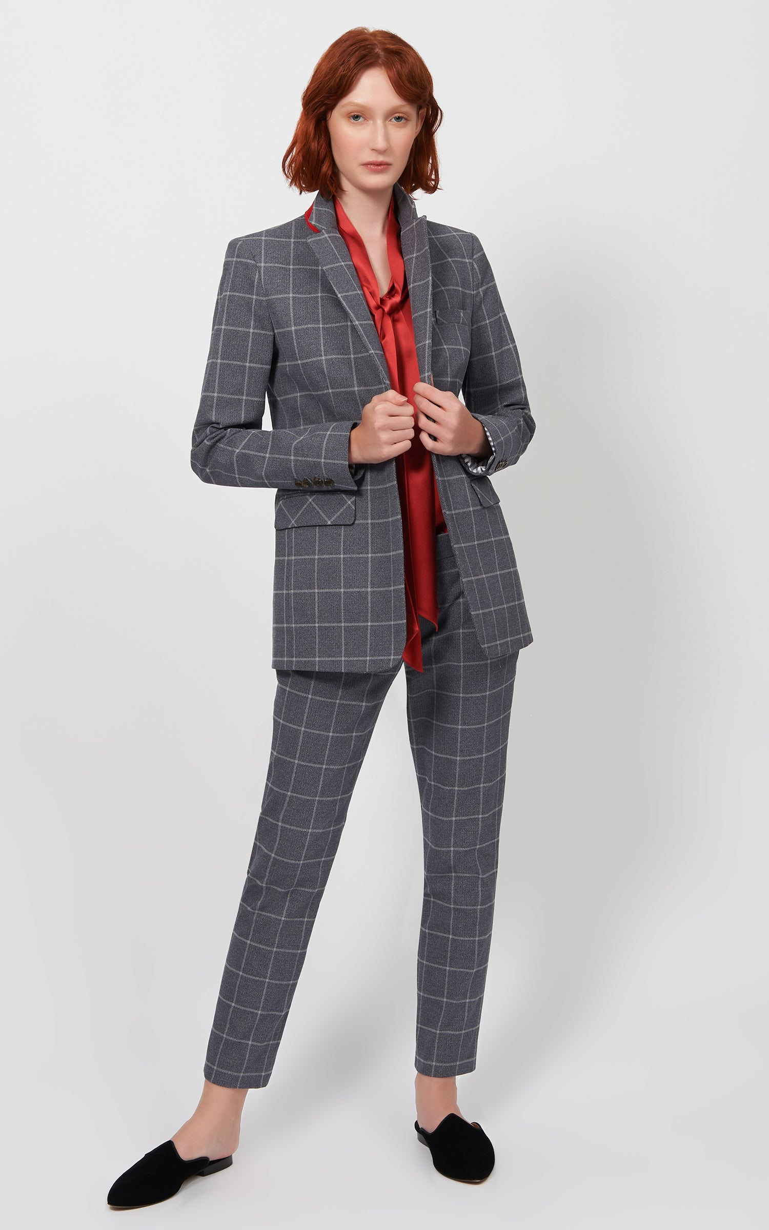 WINDOWPANE CIGARETTE PANT