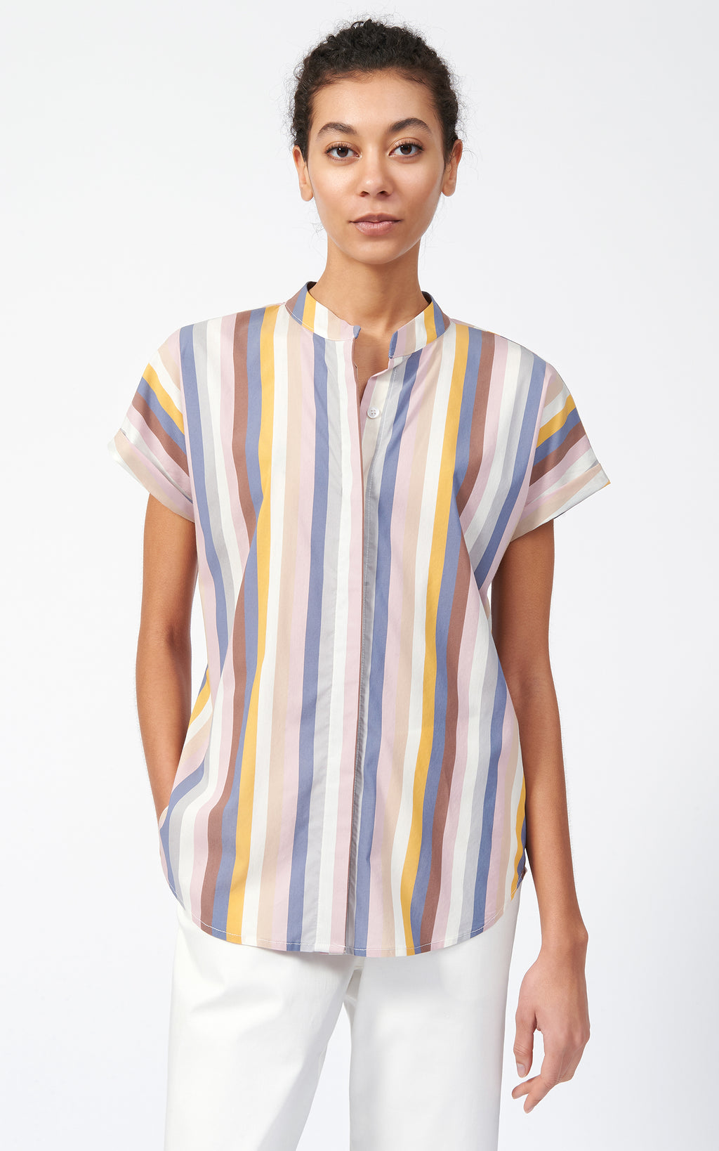 VENT BACK COLLAR SHIRT - MULTI