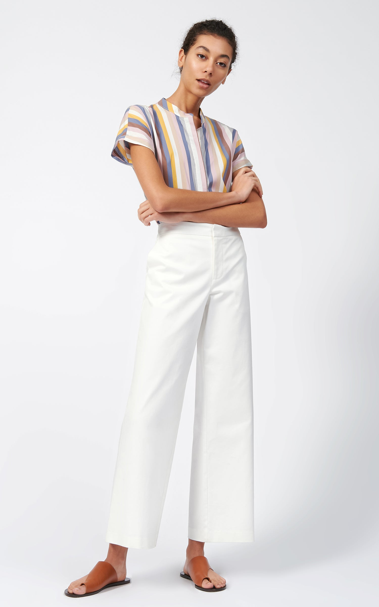 FLAT FRONT STRETCH TWILL PANT