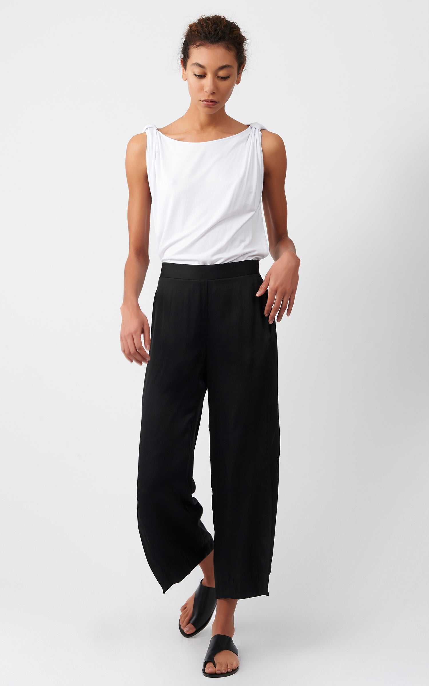 SATIN SIDE KICK PANT