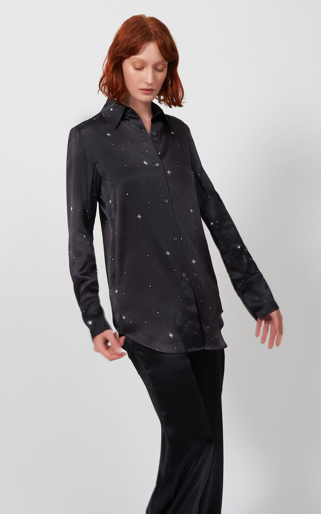 SHIRT TAIL TUNIC - CELESTIAL PRINT