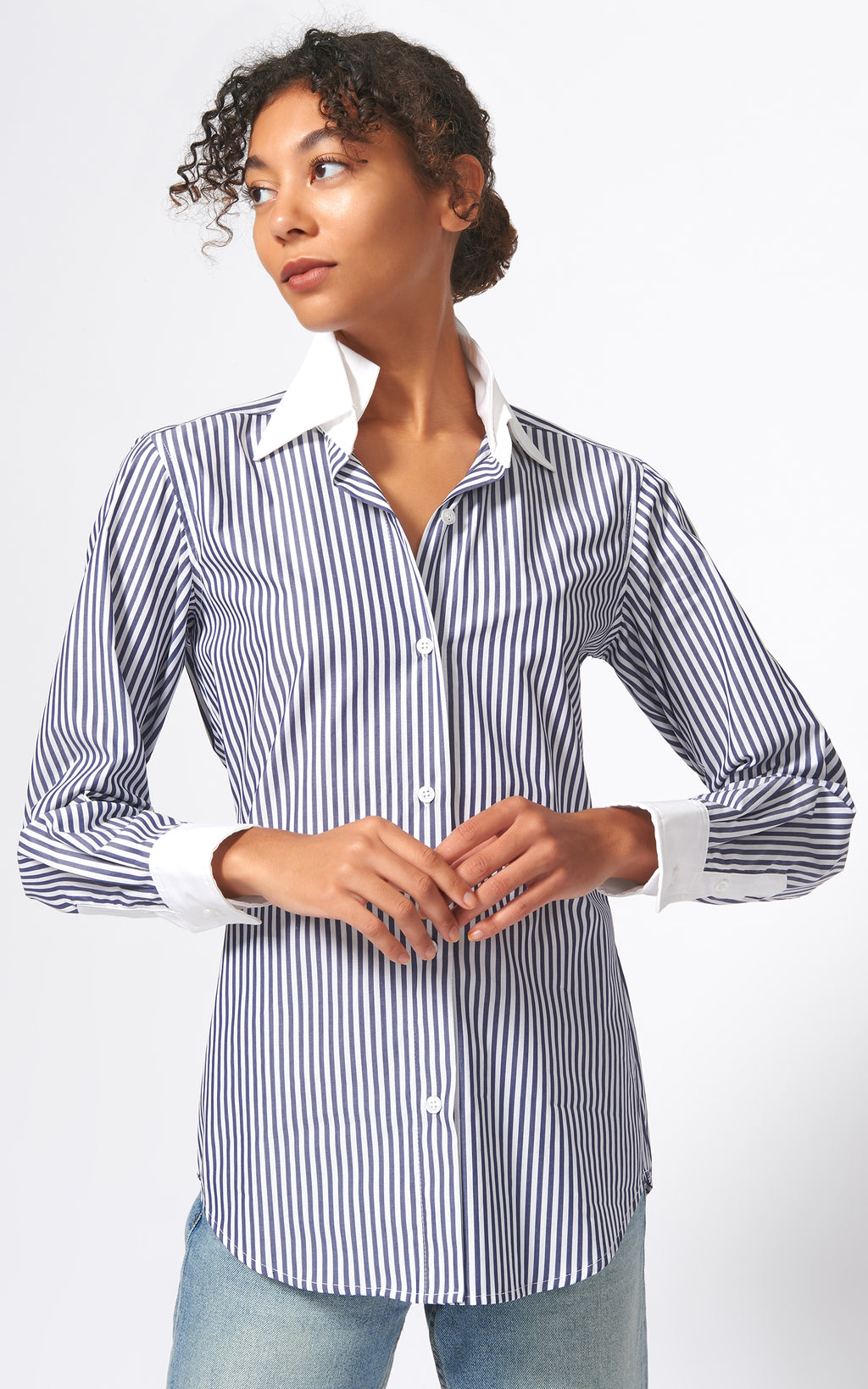 DOUBLE COLLAR SHIRT - CLASSIC STRIPE