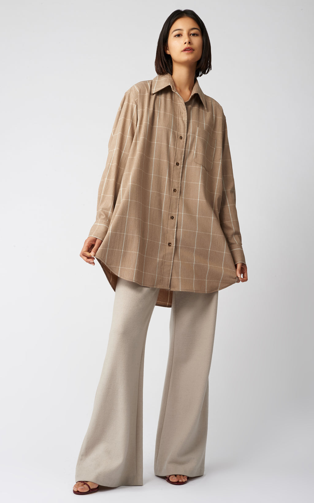WINDOWPANE OVERSIZE SHIRT