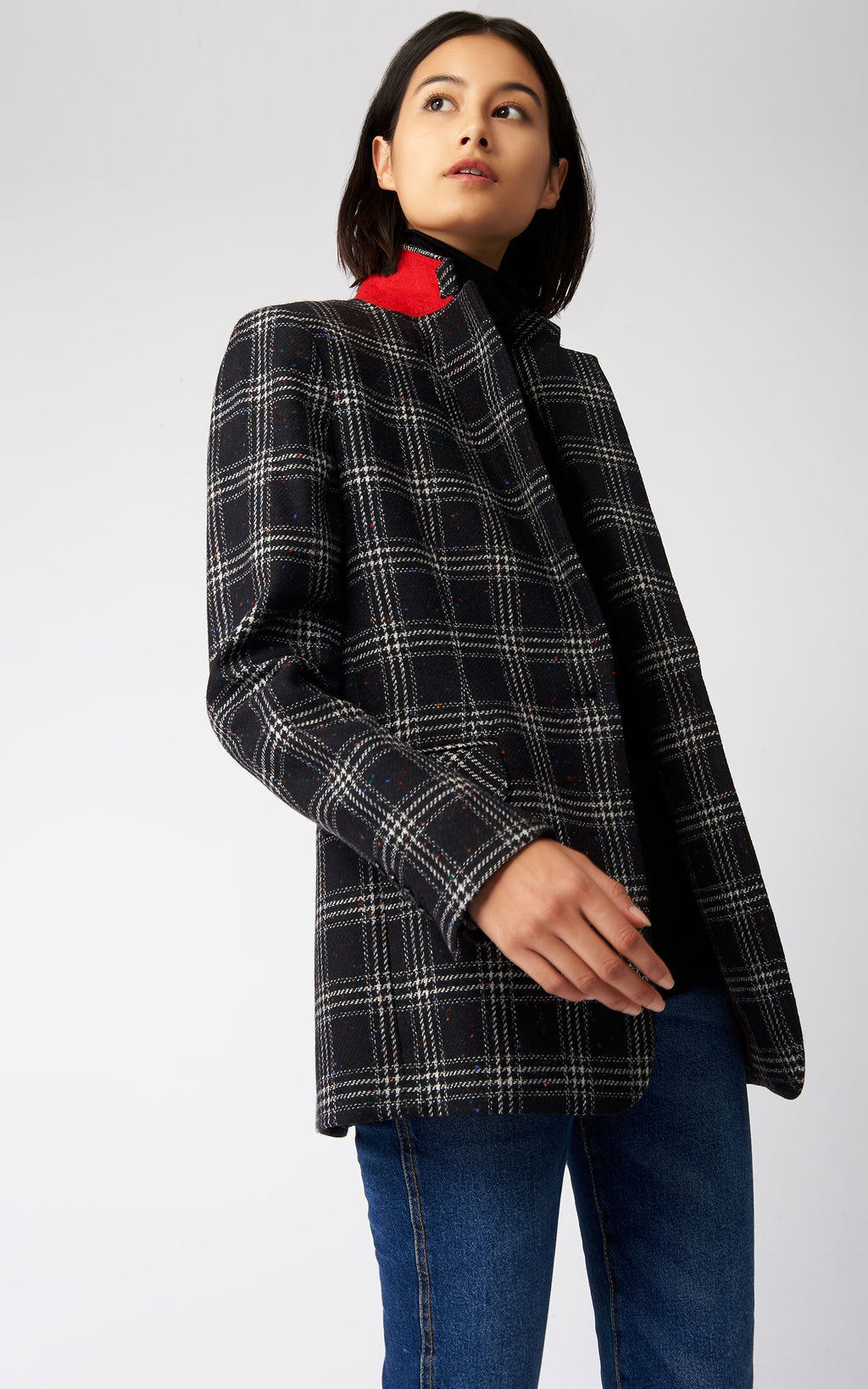 CLASSIC NOTCH BLAZER - DONEGAL PLAID