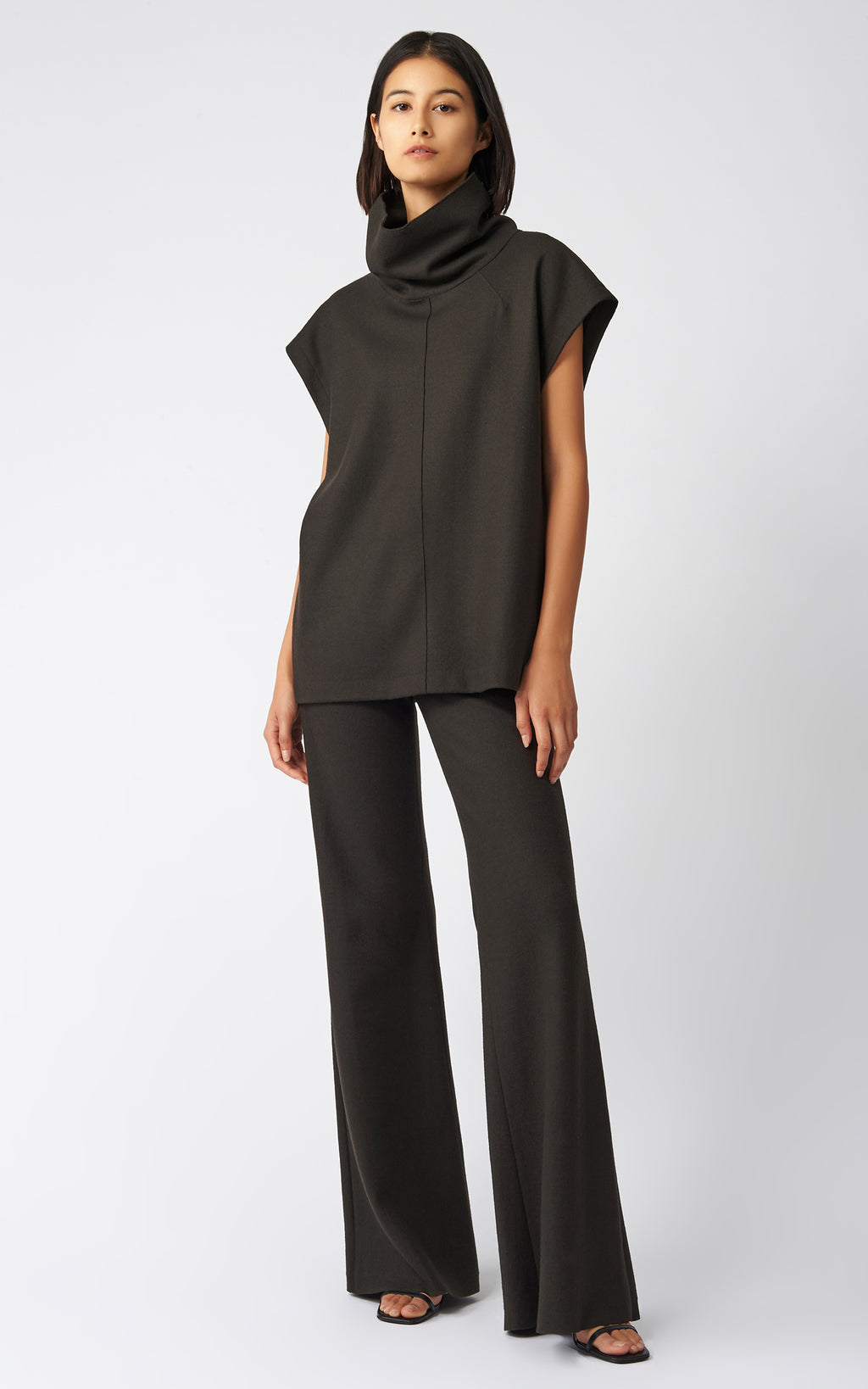 SEAMED TURTLENECK - ESPRESSO