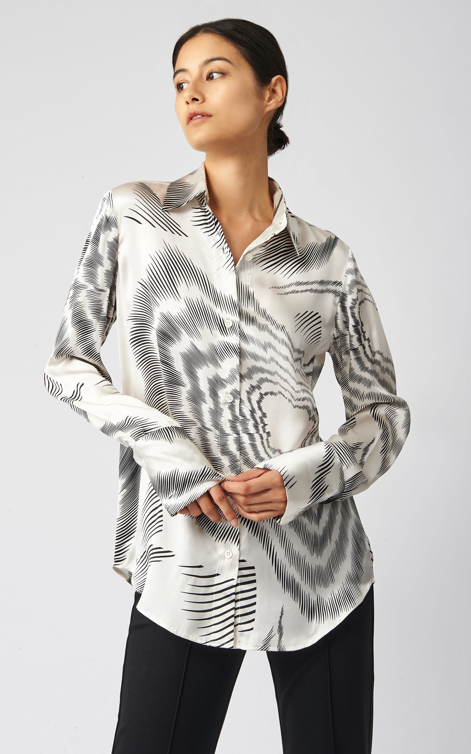 CLASSIC TAILORED BLOUSE - ASTRA PRINT