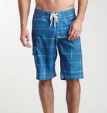 CHECKERS MEN'S BOARD SHORTS-ROYAL