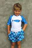 BOY'S HERE FISHY, FISHY RASHGUARD