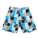 BOYS TURTLE GRID BLUE SHORTS