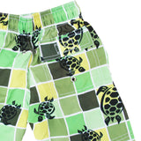 BOYS TURTLE GRID GREEN SHORTS