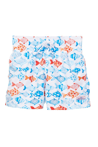 Fish and Co. White Swim Shorts
