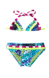 In The Mix Triangle Bikini- Turquoise