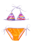 Lilac and Stitch Reversible Triangle Bikini