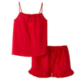 Cotton Short Set-Fuchsia