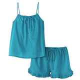 Cotton Short Set-Teal