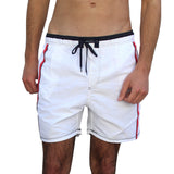 DIVER MEN'S SWIM SHORTS-WHITE