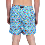 SURFBOARDS MEN'S SWIM SHORTS--TURQUOISE