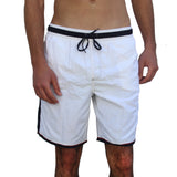 SOLID SCUBA MEN'S SWIM SHORTS-WHITE