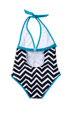 Jagged Edge Halter One Piece
