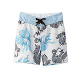 DRAGONS BOARD SHORT-WHITE/BLUE