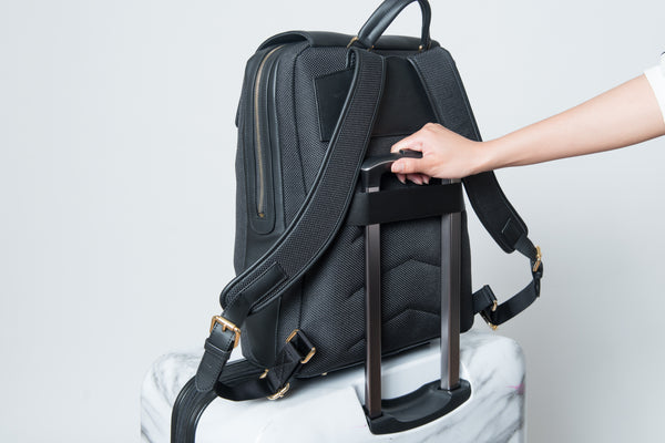 P.MAI packing tips leather laptop backpack professional women