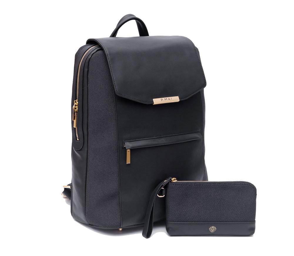 dc0075376a7 Valletta Backpack & Wristlet - All Black