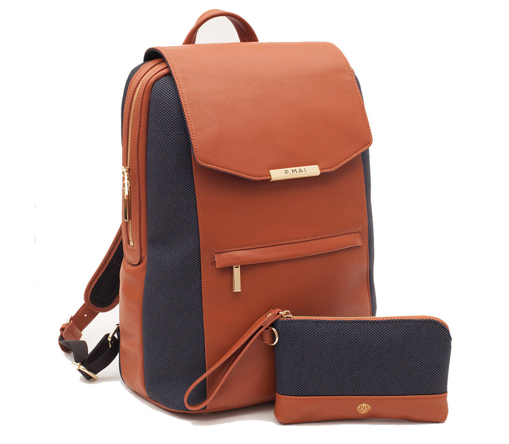 Valletta Backpack & Wristlet - Cognac