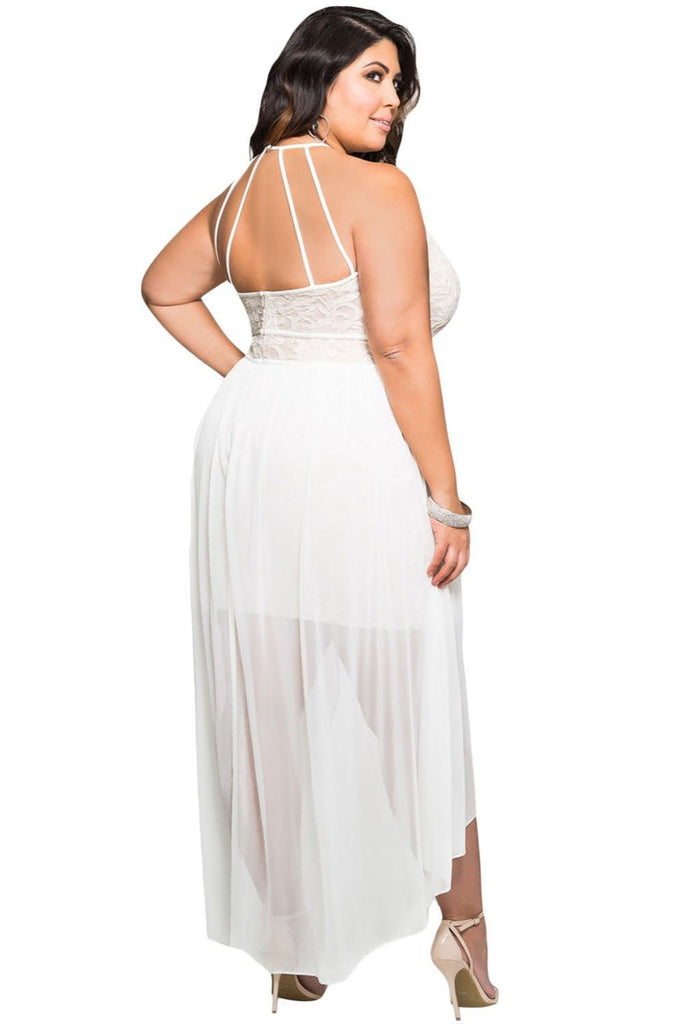 White Plus Size Dress Ibovnathandedecker