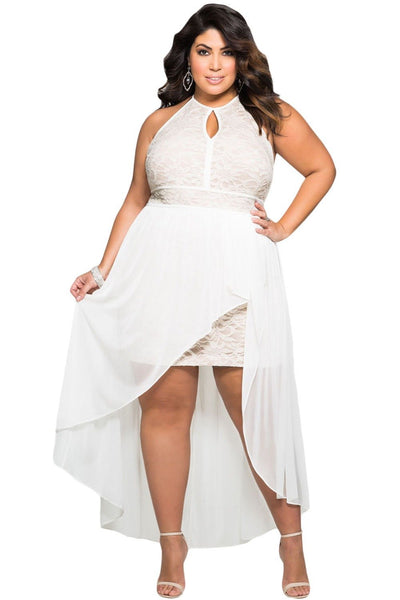 Special Occasion Plus Size Dress Big Size XXXL  Summer Style White Dresses - eileenshoppingdeals
