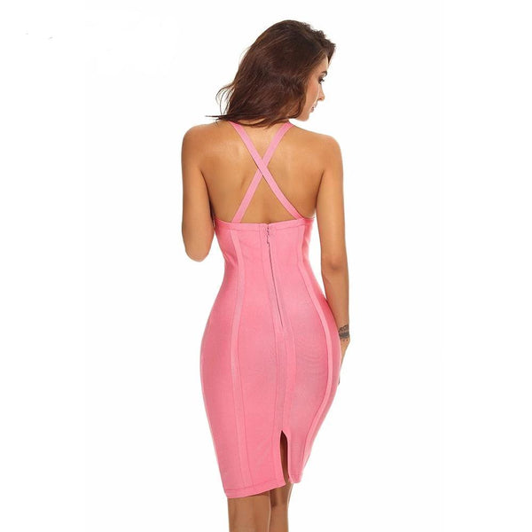 LIMITED STOCK AVAILABLE ONLY 11.8~11.10!!!MESH RAYON HIGH QAULITY BANDAGE DRESS - eileenshoppingdeals