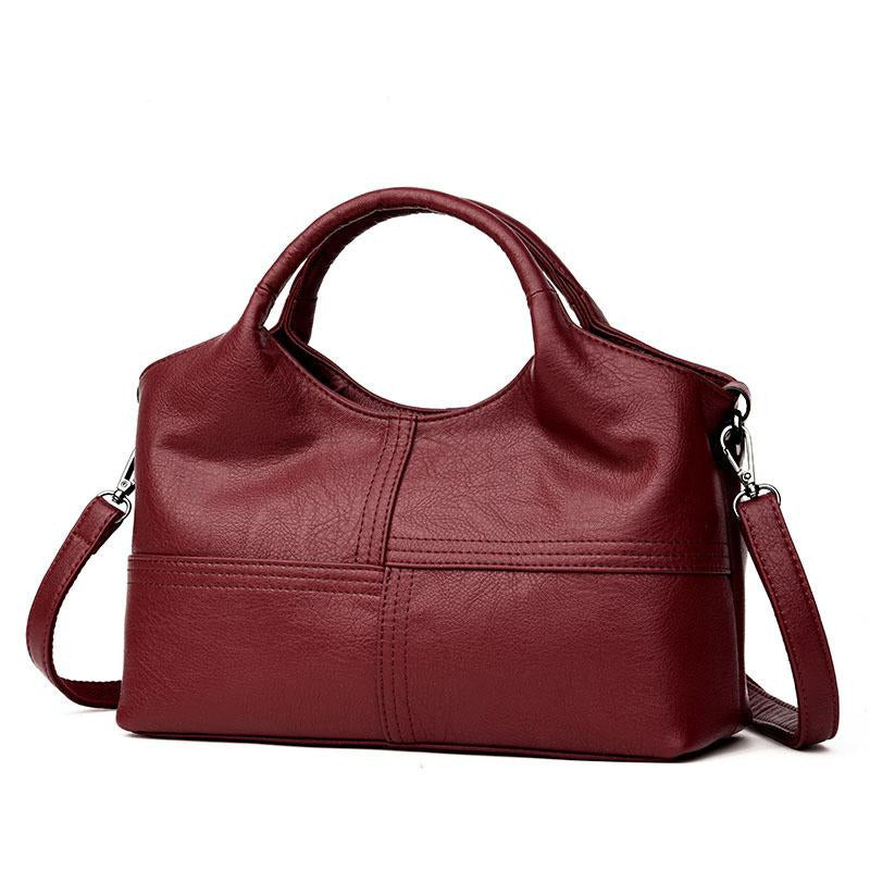 High Quality Women s Genuine Leather Handbags Patchwork Shoulder CrossBody  Bags Fashion Soft Leather Women Bags ... 59a1f55abe9bc