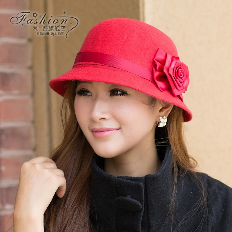 ... Free shipping Hat women s autumn and winter fashion dome cap fedoras  female bucket hats women fashion ... 2a374d37d23