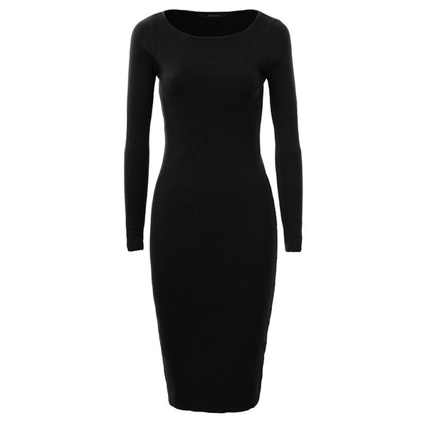 Women Sweater Dress 2017 Elegant Chic Long Sleeve Knit Dress Sexy Party Bodycon Sweater Dresses WMY-2616 - eileenshoppingdeals