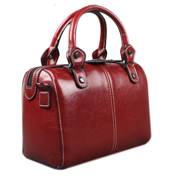 Real Cow Leather Ladies Women Genuine Leather Handbag - eileenshoppingdeals