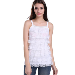 FREE SHIPPING....lollas Summer Style Sexy Sweet Lace Waistcoat Camisole Chiffon Shirt Tank Tops Women Tops - eileenshoppingdeals