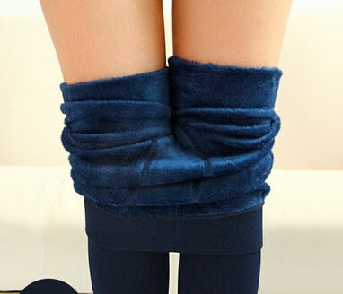 Cashmere, Warm Winter Bright Velvet Knitted Thick Legging Super Elastic Pants - eileenshoppingdeals