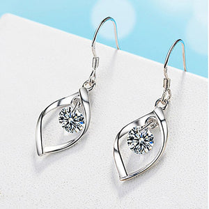 Drop Earrings for Women Fashion Jewelry 925 Silver Earring  Zironia Gemstones