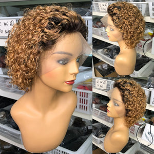 Curly Bob Lace Front Wigs For Black Women Short Bob Wig Lace Front Human Hair