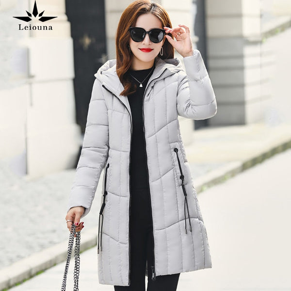 Women's Winter Jacket Female With Collar Hood Fur Collar Women Parka Coat