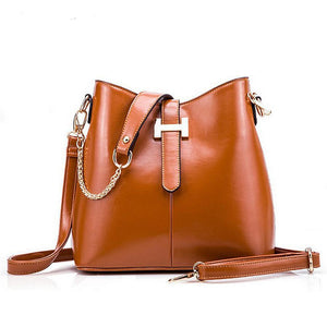 Genuine Leather with Long Strap, Bucket Bag, Shipping 16-35 days - eileenshoppingdeals