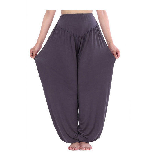 Women casual harem pants high waist dance pants dance club wide leg loose long bloomers trousers plus size,SB511 - eileenshoppingdeals