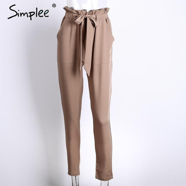 Women harem pants a summer style, high waist with stringy selvedge style.Wear as casual style - eileenshoppingdeals
