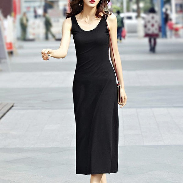 Summer Style Fashion with O-Neck, Women Casual Long Dress Cotton Tall Waist Maxi - eileenshoppingdeals