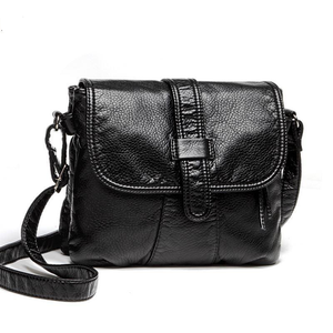 Soft leather Women Messenger bag casual women's shoulder Crossbody bag female handbag Black bolsa feminina girl bag - eileenshoppingdeals